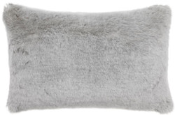 Casa Padrino luxury faux fur cushion light gray 60 x 40 cm - Living Room Decoration Accessories