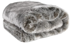 Casa Padrino luxury bedspread / blanket dark gray 170 x 145 cm - Faux Fur Blanket