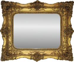 Casa Padrino Baroque Mirror Gold Antique style with double frame - 120 x 105 cm - Elegant & sumptuous wall mirror