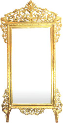 Huge Casa Padrino Baroque Mirror Gold 220 x 120 cm - Noble and magnificent wall mirror Shiny Gold