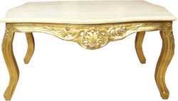 Casa Padrino baroque coffee table gold with cream marble top - furniture living room antique style