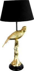 Casa Padrino Designer Table Lamp Golden Parrot - Hotel & Restaurant Table Lamp Parrot Gold / Black