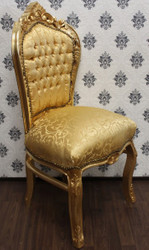 Casa Padrino Baroque Dinner Chair Gold Pattern / Gold - Baroque furniture antique style - luxury