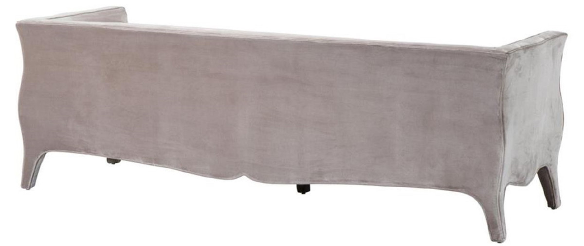 Casa Padrino Wohnzimmer Sofa Grau 225 x 79 x H. 75 cm - Luxus Samtsofa 2
