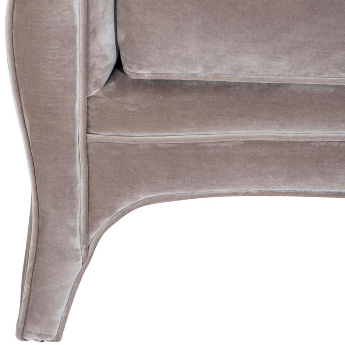 Casa Padrino Wohnzimmer Sofa Grau 225 x 79 x H. 75 cm - Luxus Samtsofa 4