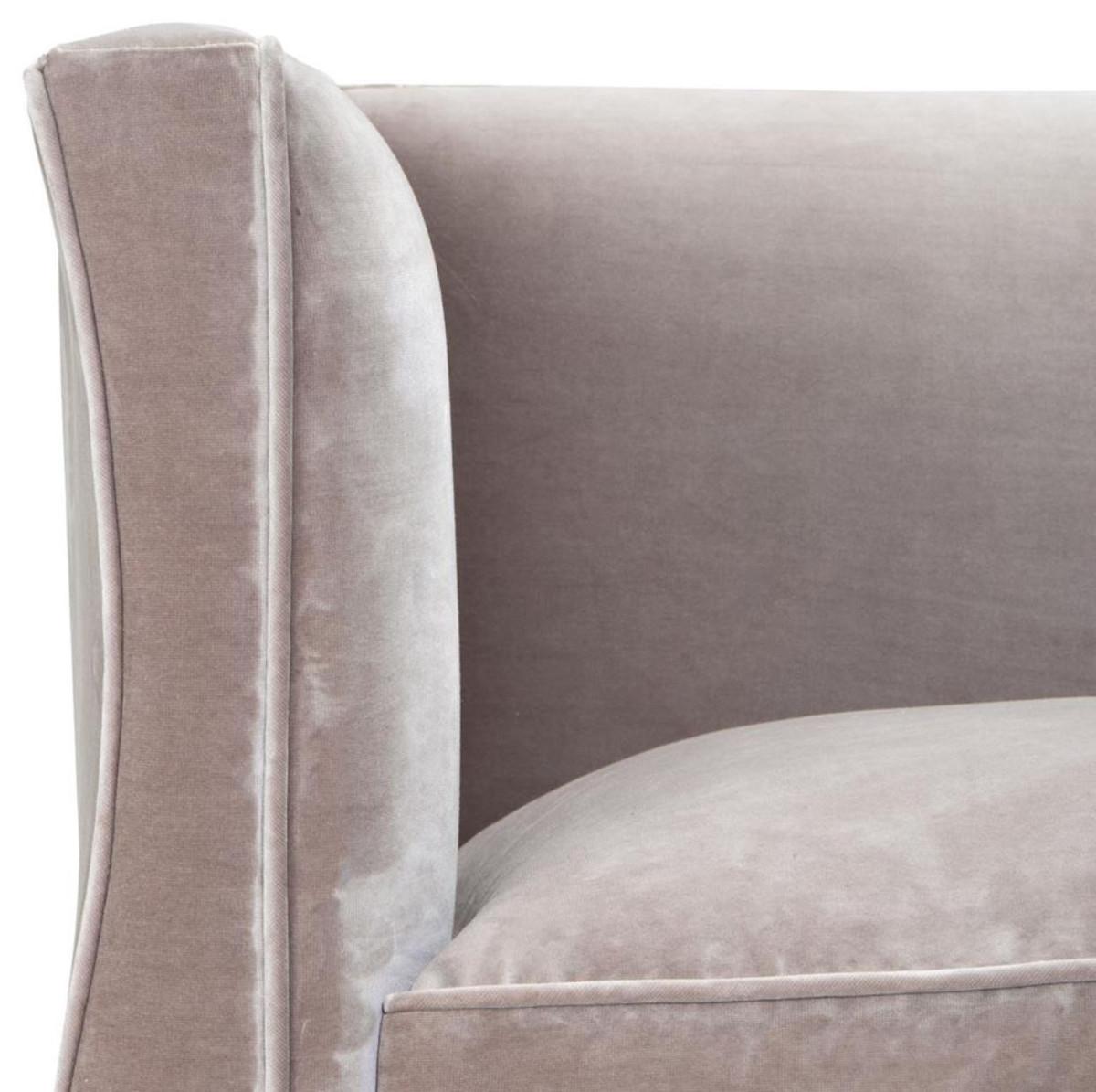 Casa Padrino Luxus Wohnzimmer Samt Sessel Grau 100 x 79 x H. 75 cm - Wohnzimmermöbel 5