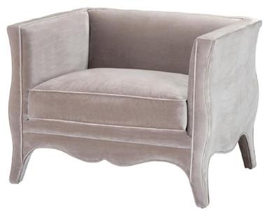 Casa Padrino poltrona da salotto di lusso in velluto grigio 100 x 79 x H.  75 cm - Mobili per Soggiorno