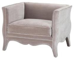Casa Padrino luxury living room velvet armchair gray 100 x 79 x H. 75 cm - Living Room Furniture