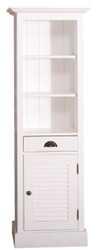 Casa Padrino country style bathroom cabinet with door and drawer white 54 x 41 x H. 160 cm - Bathroom Furniture in Country Style