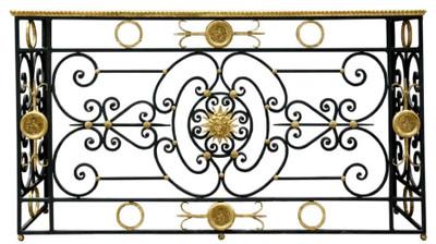 Casa Padrino Luxus Barock Konsole Weiß / Schwarz / Antik Gold 172 x 51 x H. 95 cm - Barockmöbel – Bild 1