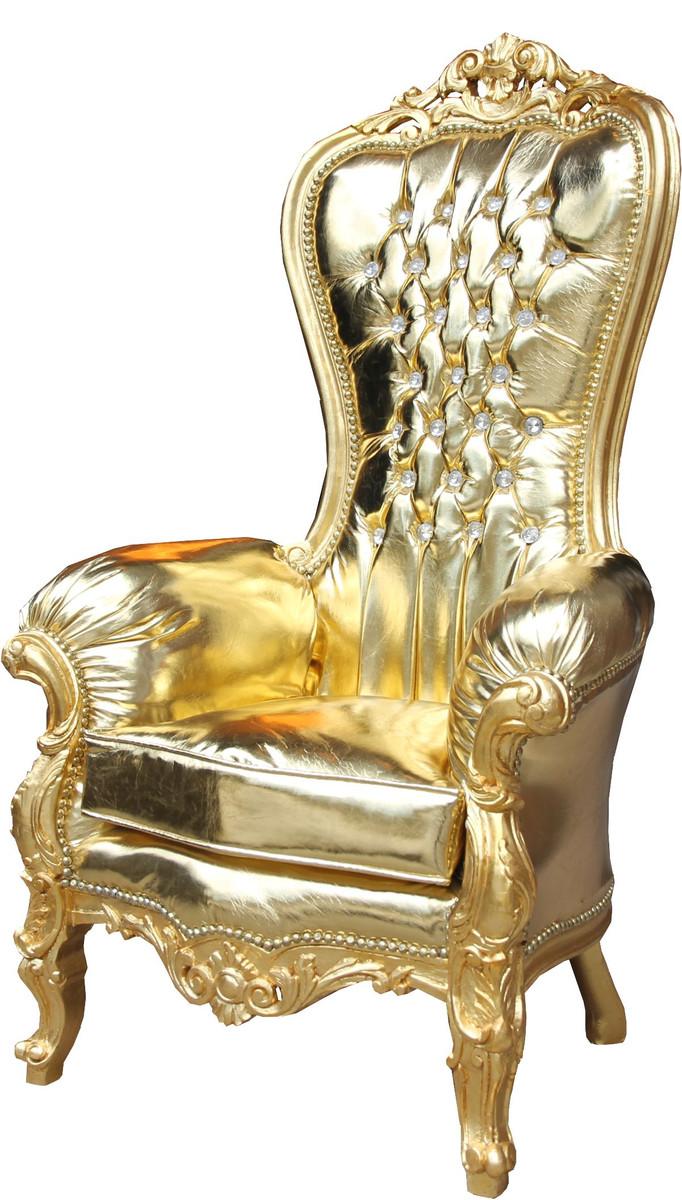 Casa Padrino Barock Damen Thron Sessel Majestic Medium