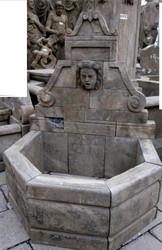 Casa Padrino Antique Style Stone Garden Fountain H100cm - Stone Fountain Baroque Art Nouveau Garden Decoration