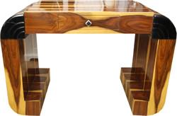 Casa Padrino Art Deco Sekretär Hellbraun / Braun 120 x 61 x H82.5 cm mit Schublade - Designer Schreibtisch