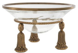 Casa Padrino Luxury Bowl Vintage Brass Ø 36 x H. 21 cm - Hotel & Restaurant Decoration Accessories