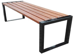 Casa Padrino luxury garden bench brown / black 180 x 47 x H. 45 cm - Modern Bench without Backrest