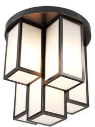 Casa Padrino Luxus Deckenleuchte Bronze / Weiß Ø 50 x H. 53,5 cm - Luxus Qualität