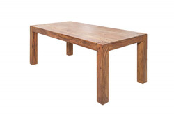 Casa Padrino Sheesham solid wood dining table 200 x 100 cm - Gasthaus table dining table - Restaurant Furniture - heavy version
