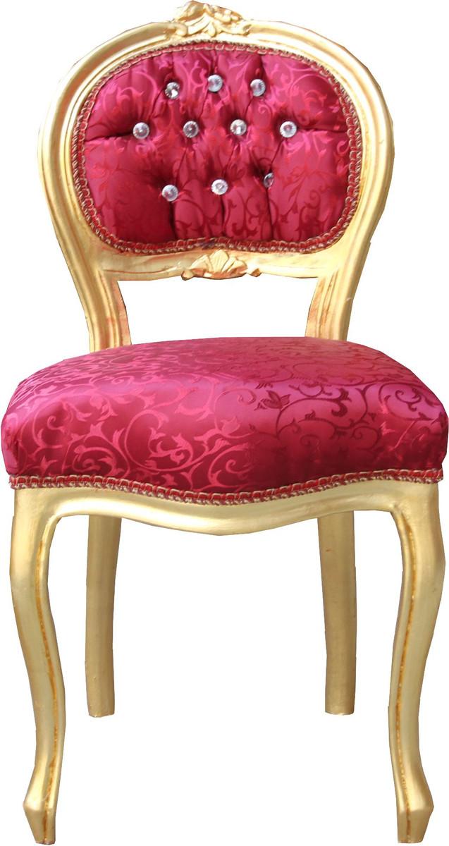 casa padrino barock damen stuhl bordeaux muster gold mit. Black Bedroom Furniture Sets. Home Design Ideas