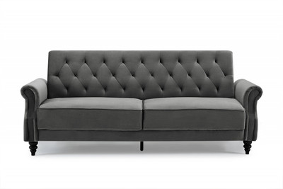 Casa Padrino Chesterfield Designer Sofa Bed In Gray Designer Sofa