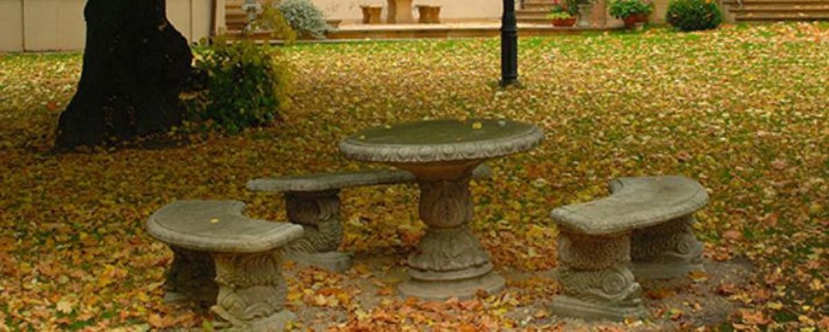 Casa Padrino Table de Jardin Baroque Gris Ø 90 x H. 74 cm - Mobilier de  Jardin de Style Baroque