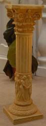 Casa Padrino Baroque Deco Column Beige 20 x 20 x H. 70 cm - Magnificent Garden Column in Baroque Style