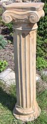 Casa Padrino Baroque Column / Garden Column Beige 24 x 24 x H. 90 cm - Garden Decor Accessories