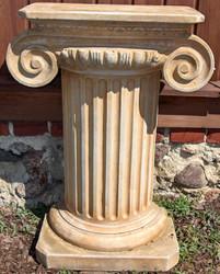 Casa Padrino Baroque Column Beige 54 x 54 x H. 77 cm - Garden Column in Baroque Style - Garden Decoration Accessories