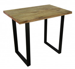Casa Padrino designer bar table in solid mango wood natural color - industrial look