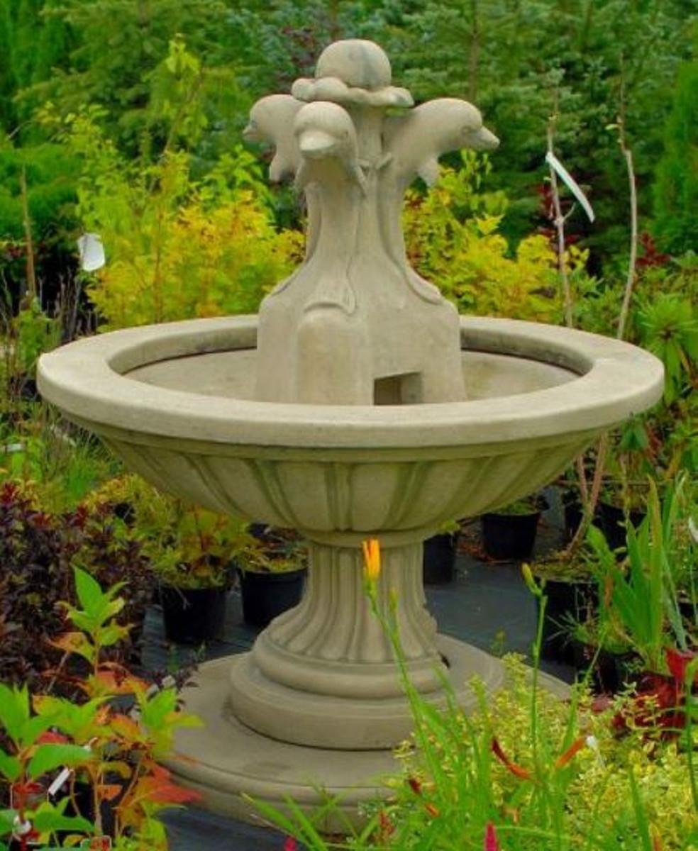 Casa Padrino Fontaine de Jardin Art Nouveau Gris Ø 130 x H. 145 cm ...