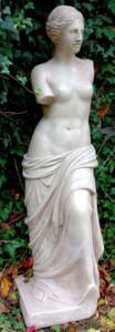Casa Padrino Jugendstil Gartendeko Skulptur / Statue Venus Grau H. 120 cm - Steinfigur Gartenskulptur – Bild 1