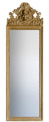 Casa Padrino Baroque Mirror Gold 58 x H. 180 cm - Magnificent Wall Mirror with Beautiful Decorations