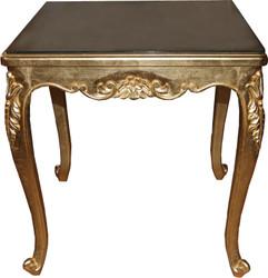 Casa Padrino Barock Luxus Esstisch Gold 80 cm x 80 cm- Esszimmer Tisch - Made in Italy