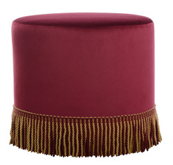 Casa Padrino luxury stool with cords - luxury quality - ALL COLORS - Neo Classic Vintage Style Round Stool - Furniture