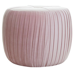 Casa Padrino luxury stool with folds H43 x 53 cm - Luxury quality - ALL COLORS - Neo Classic Vintage Style Round Stool - Furniture