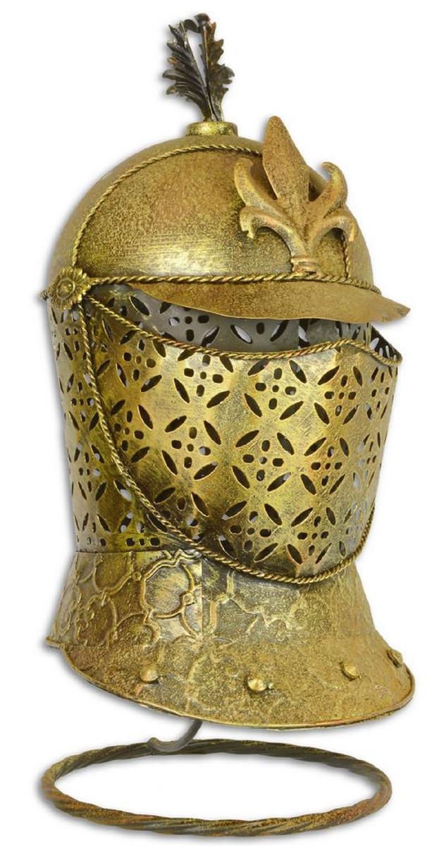 71 cm Mittelalter Deko Wanddeko Casa Padrino Eisen Ritterschild mit dekorativer franz/ösischer Lilie Antik Silber//Gold 54 x H