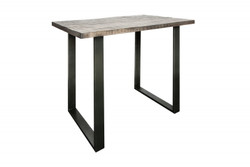 Casa Padrino designer bar table in solid mango wood gray - industrial look
