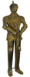 Casa Padrino iron knight armor with sword antique brown / silver H. 142 cm - Medieval Decoration