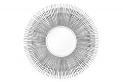 Casa Padrino Designer  Wandspiegel Designer Spiegel -silberfarbig-