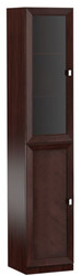 Casa Padrino Luxury Living Room Cabinet with 2 Doors Dark Brown / Silver 45.4 x 44.2 x H. 225.6 cm - Luxury Collection