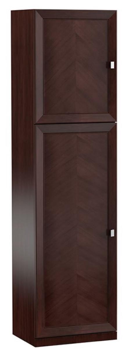 Casa Padrino Luxus Kleiderschrank Dunkelbraun Silber 704 X 442 X H 2256 Cm Schlafzimmerschrank Mit 2 Türen Schlafzimmermöbel