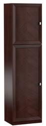 Casa Padrino Luxus Kleiderschrank Dunkelbraun / Silber 70,4 x 44,2 x H. 225,6 cm - Schlafzimmerschrank mit 2 Türen - Schlafzimmermöbel
