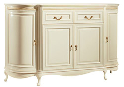 Casa Padrino Luxury Baroque Chest of Drawers Cream / Gold 168.9 x 46.7 x H. 105 cm - Sumptuous Dresser with 4 Doors and 2 Drawers - Luxury Quality