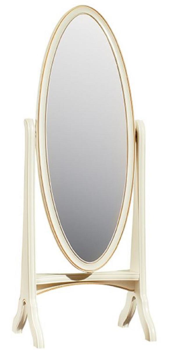 Casa Padrino Luxus Barock Standspiegel Creme / Gold 65 x 46 x H. 175 cm -  Schlafzimmer Deko Accessoires