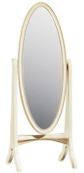 Casa Padrino Luxury Baroque Standing Mirror Cream / Gold 65 x 46 x H. 175 cm - Bedroom Decoration Accessories