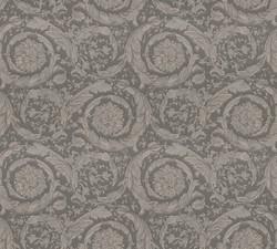 Versace Designer Baroque Non-Woven Wallpaper Barocco Flowers 935836 Gray / Silver - Design Wallpaper - Deco Accessories