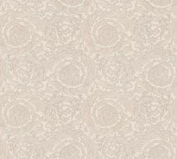 Versace Designer Baroque Non-Woven Wallpaper Barocco Flowers 935835 Beige / Cream / Gray - Design Wallpaper - Deco Accessories