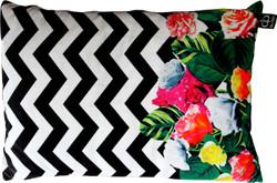 Casa Padrino Luxury Cushion Miami Flowers 35 x 55 cm - finest velvet fabric - deco living room cushion Casa Padrino Luxury Cushion Miami Flowers 35 x 55 cm - finest velvet fabric - deco living room cushion