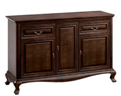 Casa Padrino Luxury Art Nouveau Dresser with 3 Doors and 2 Drawers Dark Brown 148.3 x 45.6 x H. 95 cm - Luxury Quality