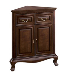 Casa Padrino Luxury Art Nouveau Corner Dresser with 2 Doors and 2 Drawers Dark brown 80 x 51.3 x H. 95 cm - Living Room Furniture