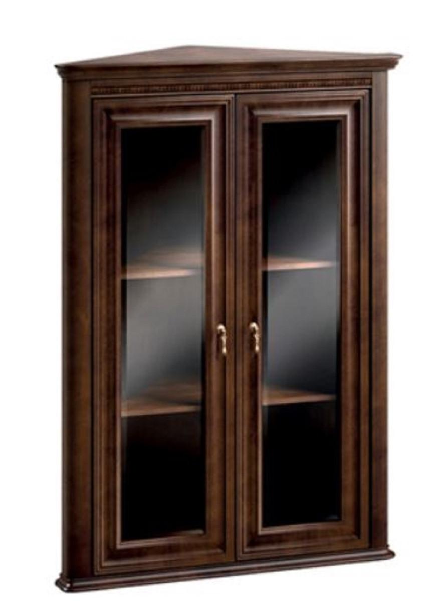 Casa Padrino Mobile Pensile ad Angolo Art Nouveau di Lusso con 2 Porte in  Vetro Marrone Scuro 82 x 52,1 x H. 111,6 cm - Mobili Soggiorno